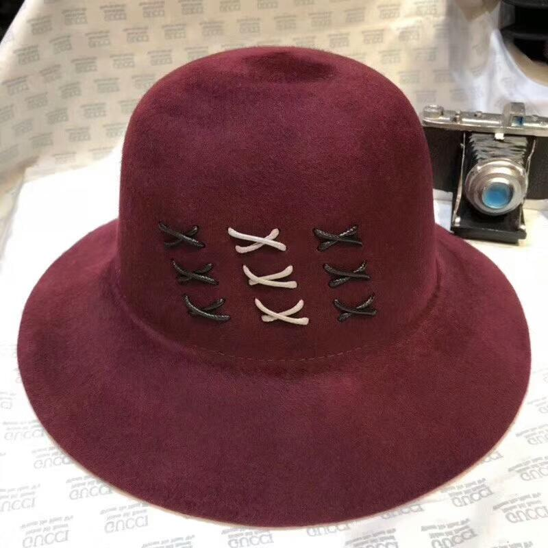 88efa21a201 New Arrival Luxury Women Cloches Top Hat Brand Cashmere Winter Hat Top  Quality Wool Warm Hat For Lady Girl Charming Fashion Bucket Hats UK 2019  From ...