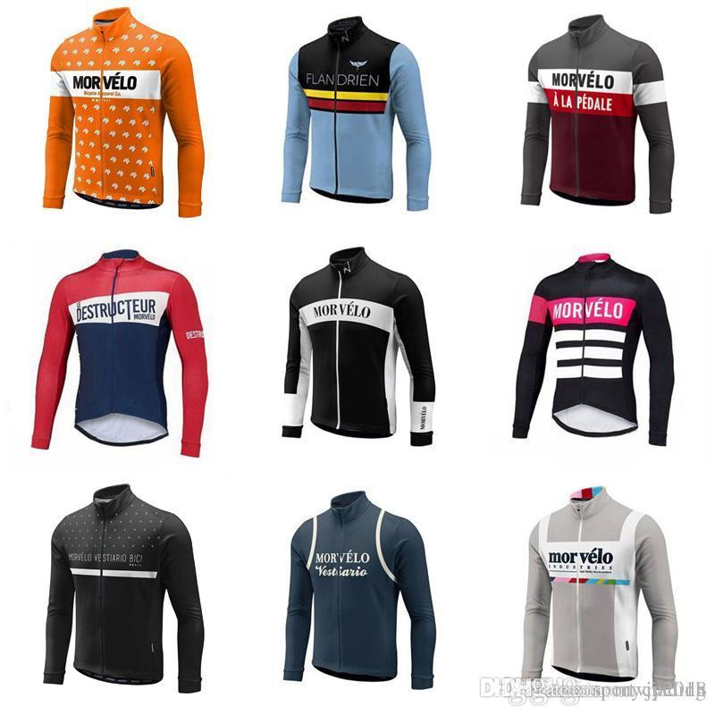 Morvelo team Cycling long Sleeves jersey Summer Cycling Jersey Bike Top Shirt Clothing Clothes For Men Sport Quick Dry D716