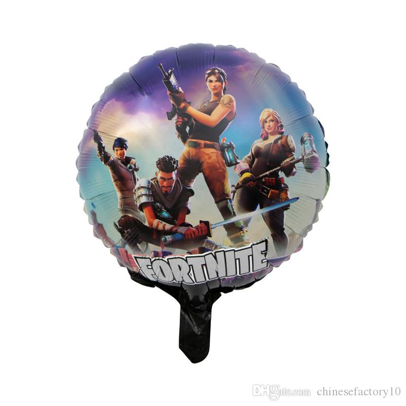 18 Inch Fortnite Aluminum Foil Balloon Kids Toy Large Balloon Birthday Party Supplies Christmas Halloween Decoration