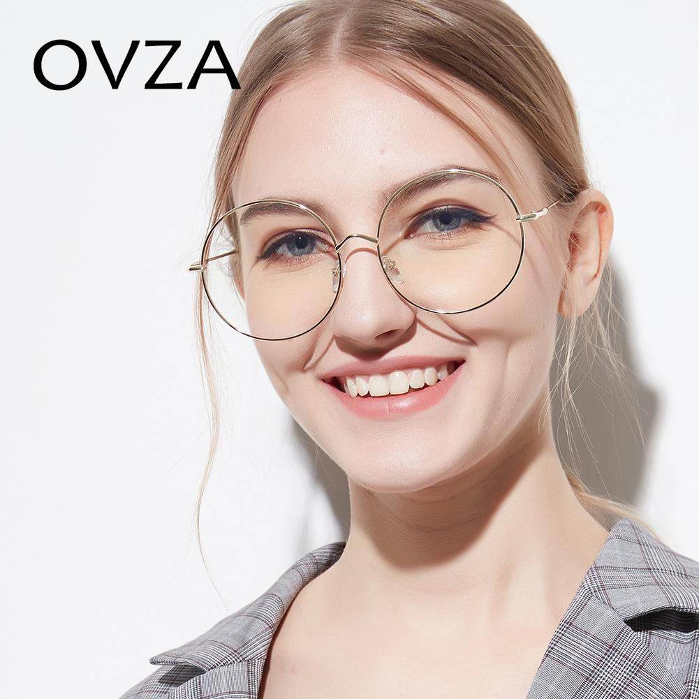 7bdf9ddcf9d3 2019 OVZA Oversized Glasses Frames Metal Fashion Accessories Round Eyeglass  Frames Thin Spectacles Retro Women Mens S6080 From Frenky, $23.81 |  DHgate.Com