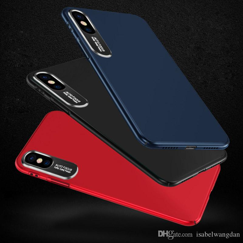 """Fashion Metal Brush Camera Protectio Case For iPhone X 10 Luxury """"Auto Focus"""" Letter Hard PC Back Cover Hybrid Protective Cover"""