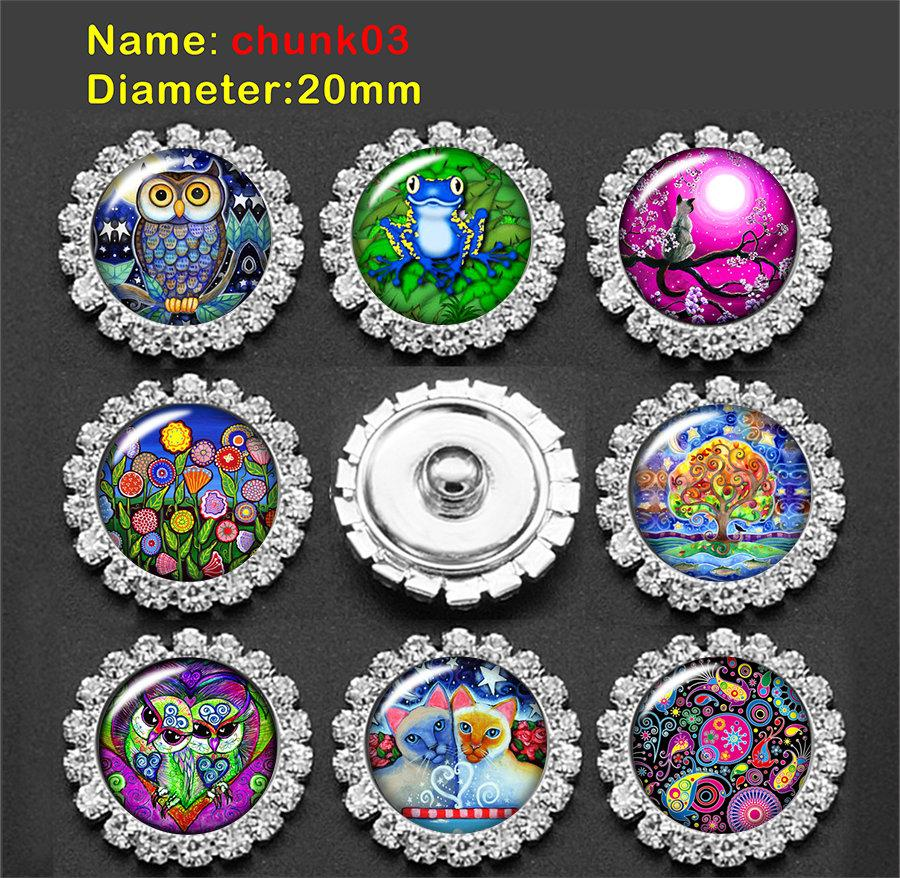 wolf wolves glass Snap button Charm Popper for Snap Jewelry picture pendant GS9970