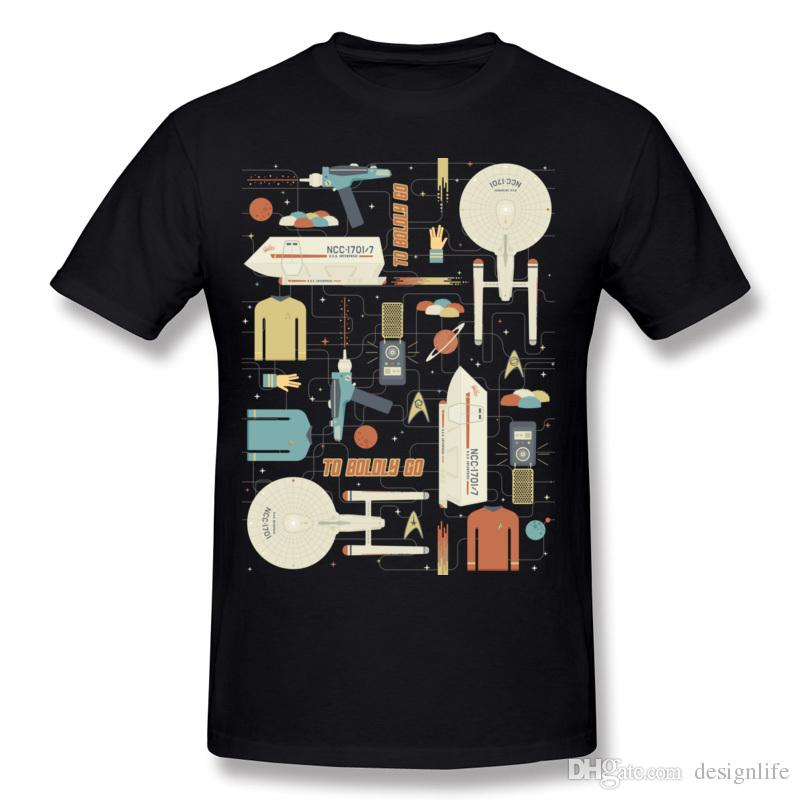 New Arrival Mens 100% Cotton Vintage Star Trek Enterprise Tee-Shirts ... a6cc5acf74e