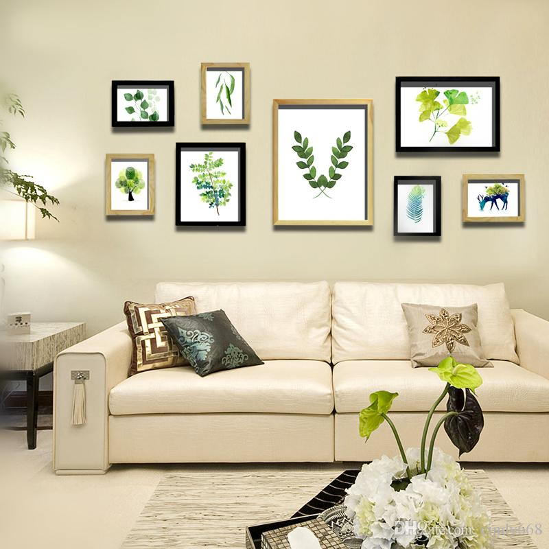 2019 Wood Photo Frames Set Home Sofa Wall Tv Background Picture