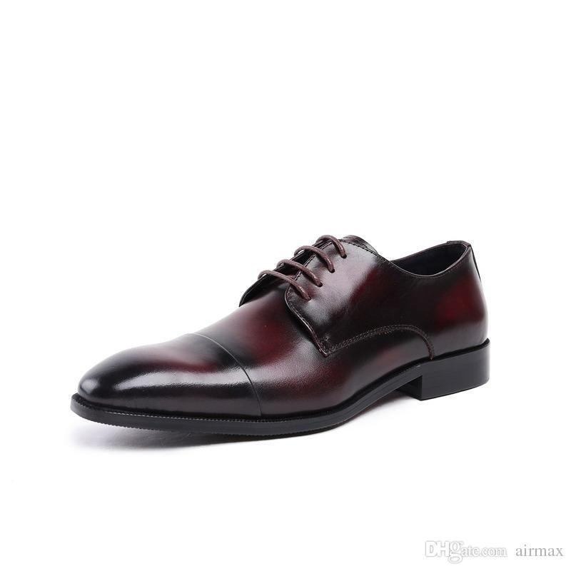 venta directa de fábrica los recién llegados Promoción de ventas Compre Gran Calidad Negro Zapatos Formales Hombres Puntiagudos Con Cordones  Color Negocios Zapatos De Cuero De Ocio Tamaño Del Hombre 37 44 Rojo A ...