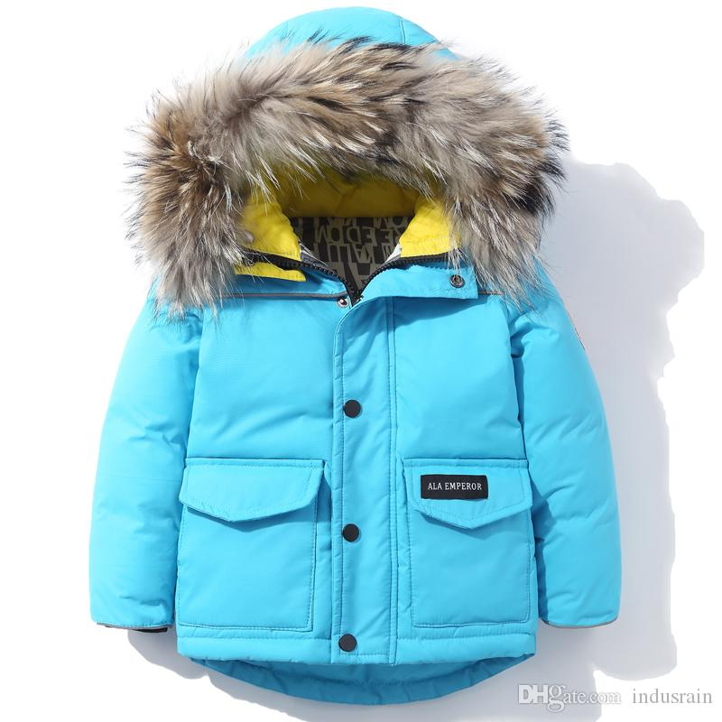 7d460c023 Children s Down Jacket Boy Parkas Kids Winter Warm Thicken ...