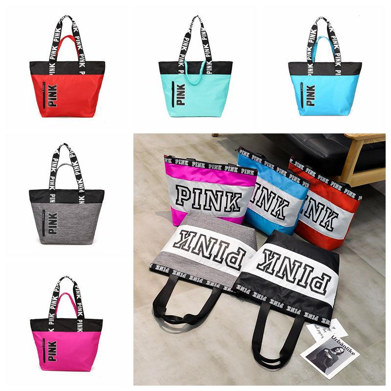 Pink Handbags Shoulder Bags Women Love Handbags Large Capacity Travel  Duffle Striped Waterproof Beach Big Kids Bags Pink Letter Handbags Duffle  Bags ... dfb0820dcc6ad