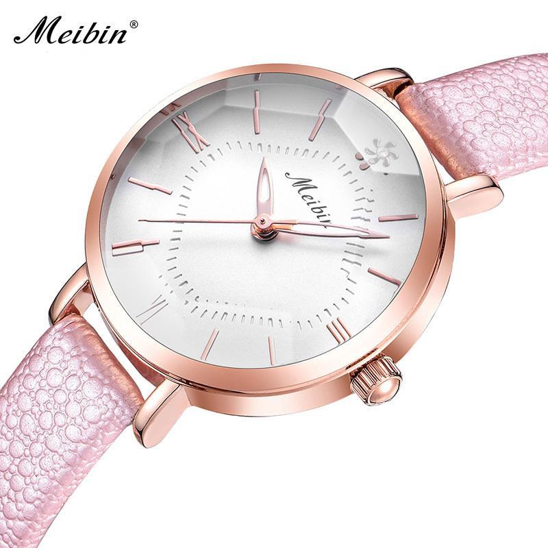 114f706b36b9 Compre Relojes De Las Mujeres De La Manera Vestido De Lujo De Cuero Reloj  De Señoras Mujeres Cristal De Corte Tridimensional Dial Reloj De Ventana  Relogio ...