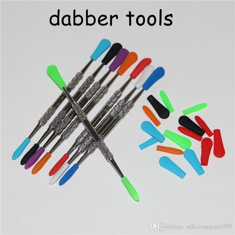 cigarro eletrônico Wax Dab Ferramenta de aço inoxidável Silicone Concentrado Dabber cera ferramenta seco Ego seco Herb Ferramenta Dab
