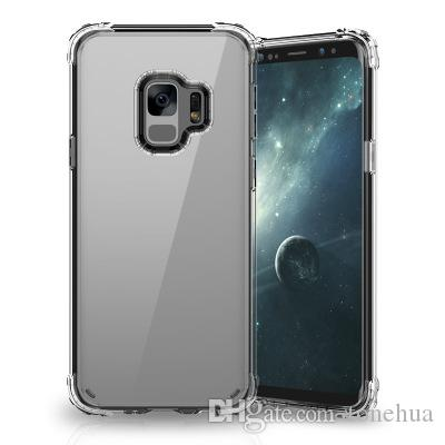 For Samsung S9 S9 Plus Phone Shell Air Bag Anti-Scratch Full Protection Transparents Cover Camera Protection Back Cases