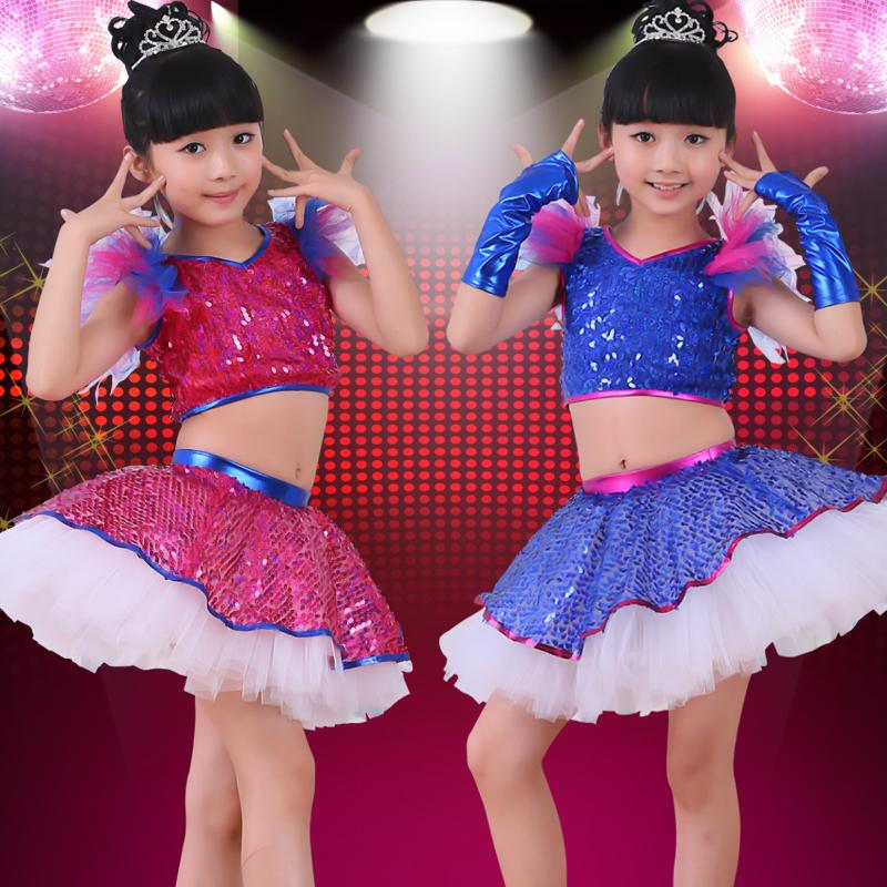 Compre Trajes Para Niños Niñas Jazz Disfraces Modernos De Danza Con ... b5a77dee3cf