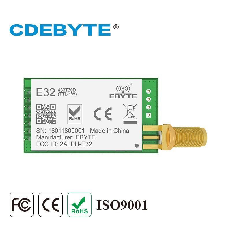 E32(433T30D) lora long range UART SX1278 433mhz 1W SMA antenna IOT uhf  wireless transceiver(transmitter/receiver) module