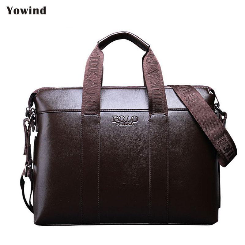 29296e302d9b6 Satın Al YOWIND Yüksek Kalite PU Deri Çanta Iş Erkek Çanta Laptop Tote Evrak  Crossbody Çanta Omuz Çanta Erkek Postacı Çantası, $41.72 | DHgate.Com'da