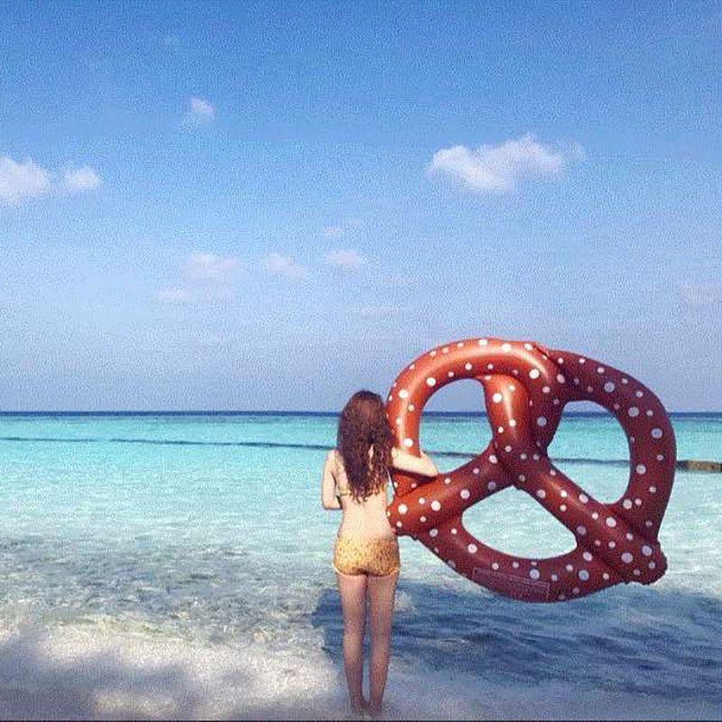 Piscina inflable flotador 140 cm pan nadar flotadores buñuelo anillo de natación balsa verano playa deporte acuático divertido fiesta juguetes