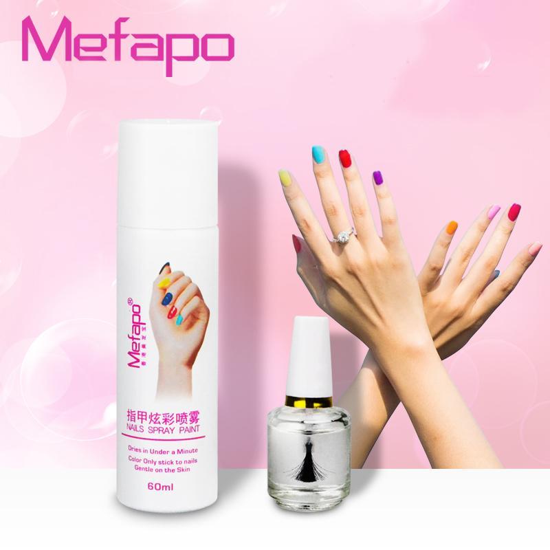 Pro Styles Perfect 60ml Spray Nail Polish + 15ml Base Coat Easy To ...