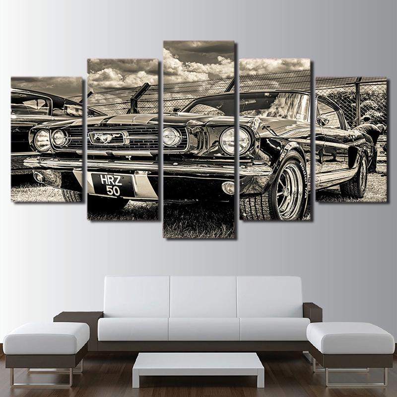 2018 Pictures 1965 Ford Mustang Canvas Painting Modular Hd Print Artwork  Modern Sports Car Poster Home Decor Wall Art From Z1151832585, $10.06 |  Dhgate.Com