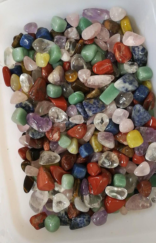 DingSheng Natural Mixed Chakra Stones Gravel Crystal Quartz Tumbled Stone Chips Amethyst Aventurine Jasper Lapis lazuli For Healing Reiki
