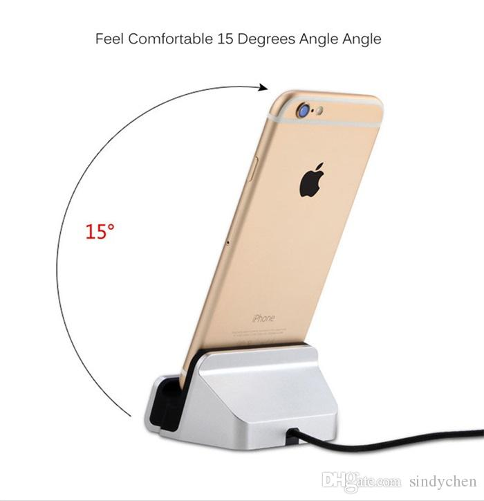Most popular wholesale desktop charger USB Cradle charging stand for iphone 7 8 plus for Android dhl