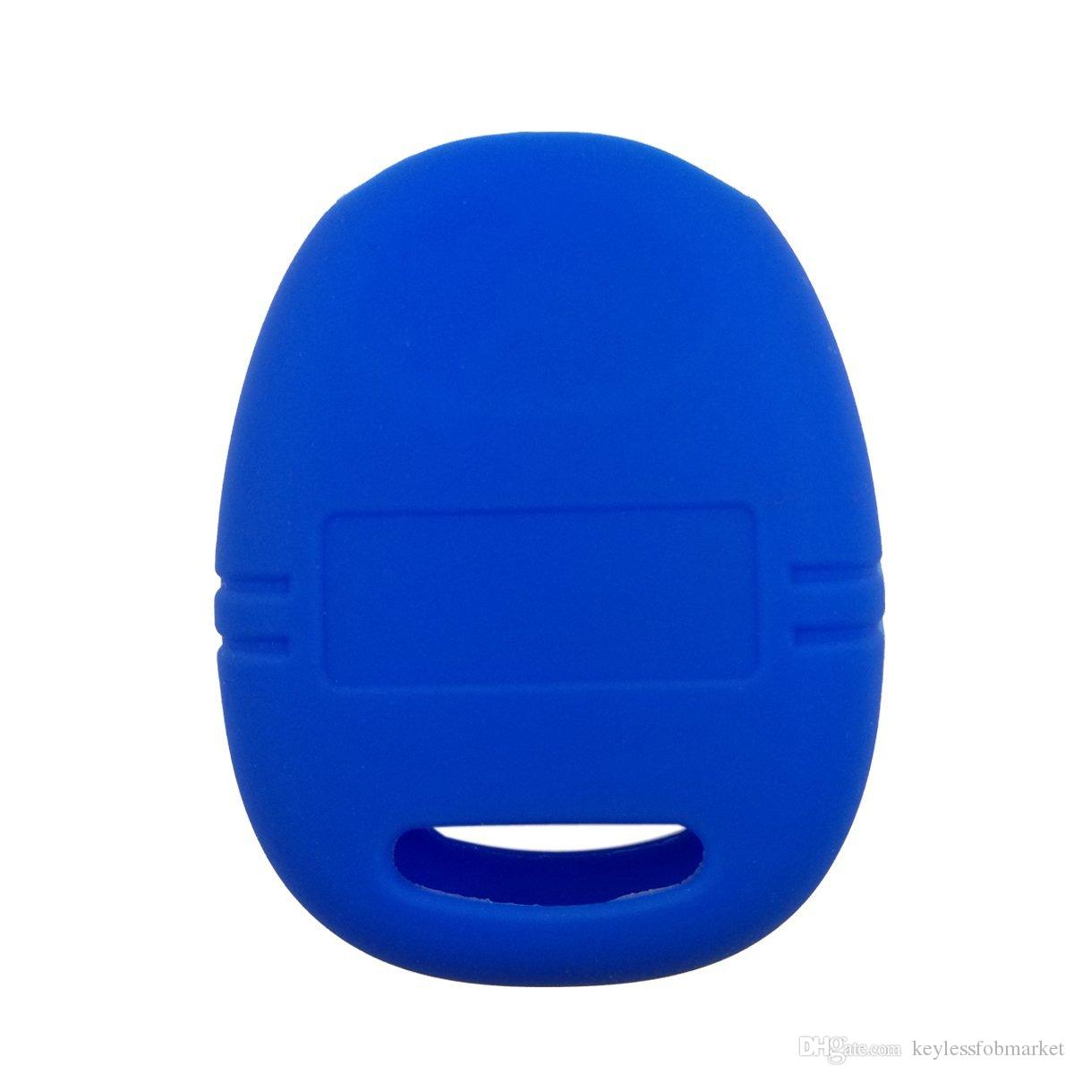 SEGADEN Silicone Cover Protector Case Skin Jacket fit for SAAB 9-3 9-5 4 Button Remote Key Fob CV2760 Light Blue