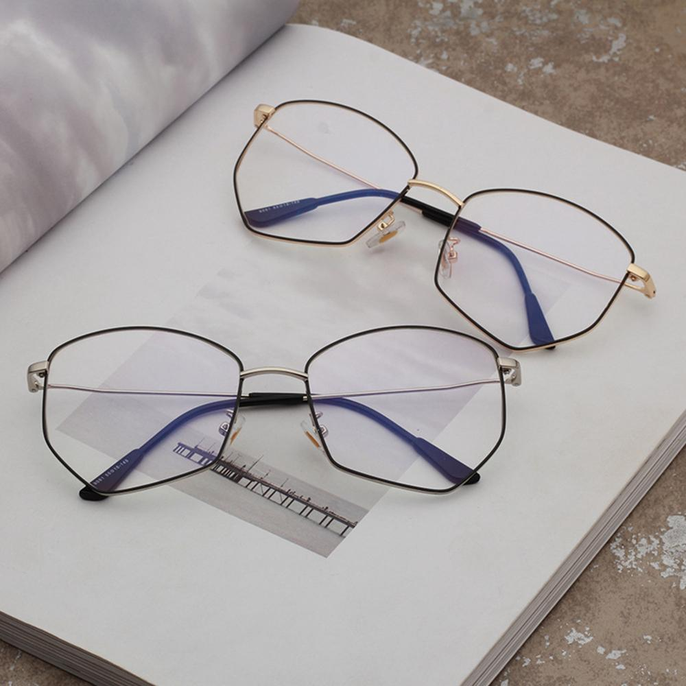 41636e61586 2019 Metal Computer Goggles 2018 New Men And Women Polygon Glasses Frame Reading  Spectacles Frame Polygon Clear Eye Glass 9081OLO From Marquesechriss