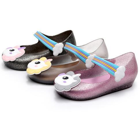 49508b0c71e1 Unicorn Shoes Jelly Shoes Unicorn Sandals Girl Non Slip Unicorn ...