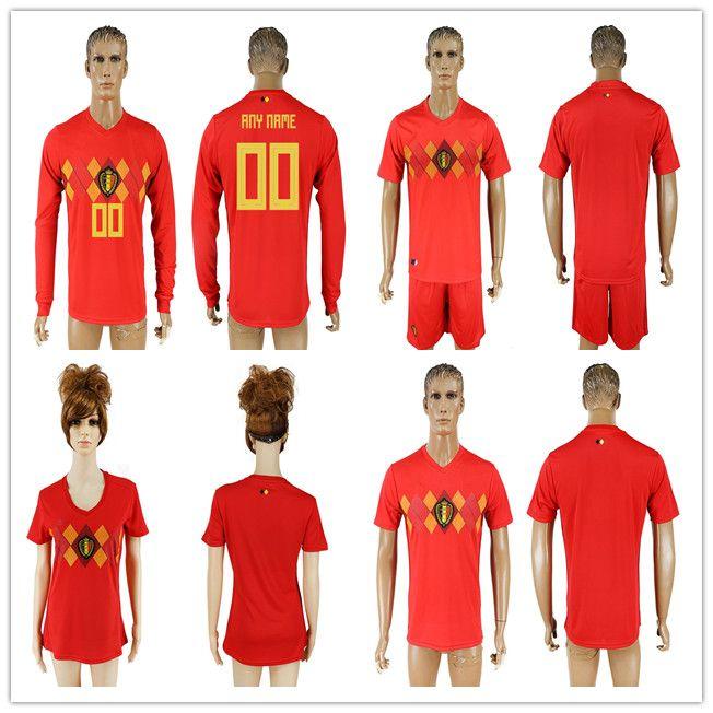 buy online 9d858 0af7a Mens 2018 World Cup Belgium Soccer Jersey Home red LUKAKU FELLAINI E.HAZARD  KOMPANY DE BRUYNE football shirt For Men and Women