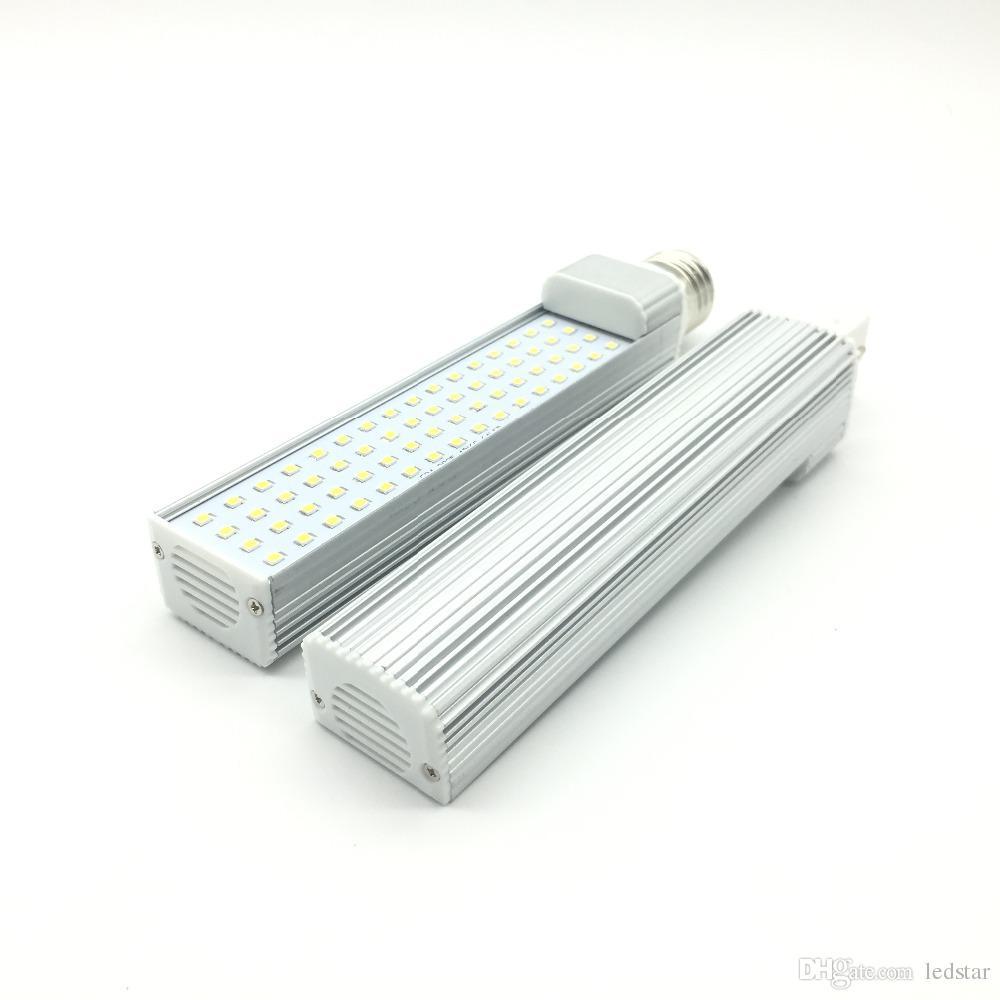 Lampadine LED G24 / E27 7W 9W 11W 13W 15W LED Lampadina a mais Lampada SMD 2835 Faretto 180 gradi AC85-265V Luce orizzontale a spina