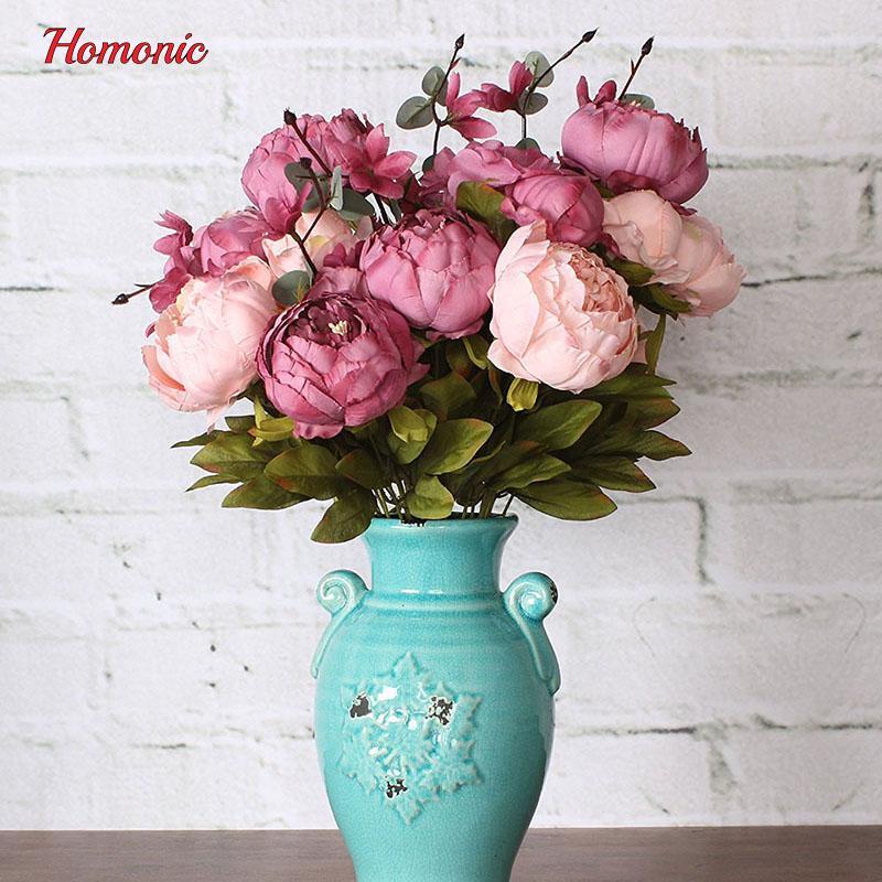 Großhandel Gefälschte Blumen Vintage Künstliche Pfingstrose ...