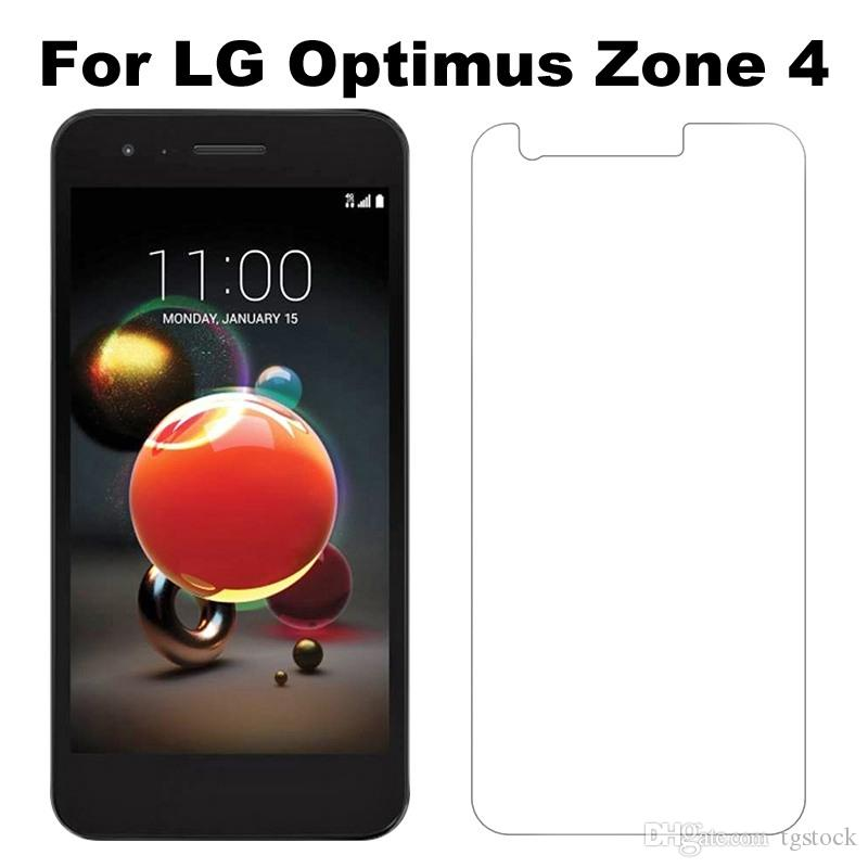 For LG Zone 4 Regular Clear Screen Protector Alcatel Fierce 4 Verso 5044  Galaxy J7 V Tempered Glass Without Retail Package
