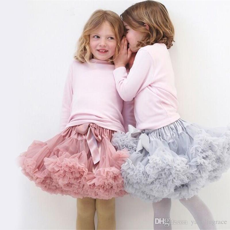 RuffleButts Little Girls Tea Length Midi Navy Tulle Skirt Tutu