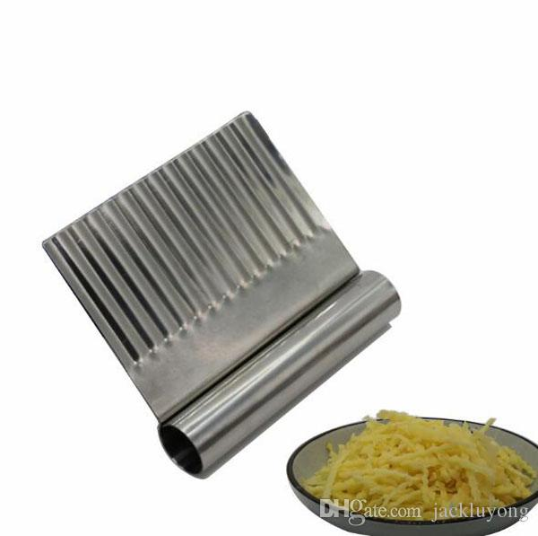 Potato Carrot Vegetable Crinkle Wavy Chopper Cutter Blade French Fry Slicer Easy Quick Kitchen Tool Knife Stainless Steel Blade