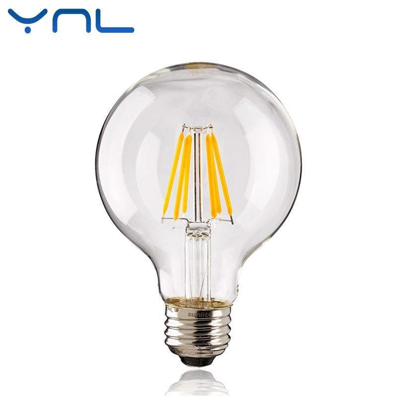 E27 Verre Ynl Antique G45 2w Edison Ampoule 8w G95 Rétro Lumière 6w Vintage G80 Ac220v Lampada Led Filament 240v 4w En wOPkXZTiul