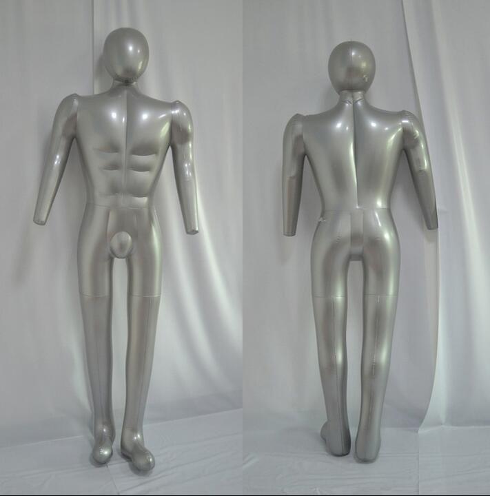 inflable al por mayor, maniquí para la ropa, torso inflable, soporte de exhibición de la ropa de los hombres, maniquí sexy inflable del pvc, cuerpo completo, 1 pieza, M00357
