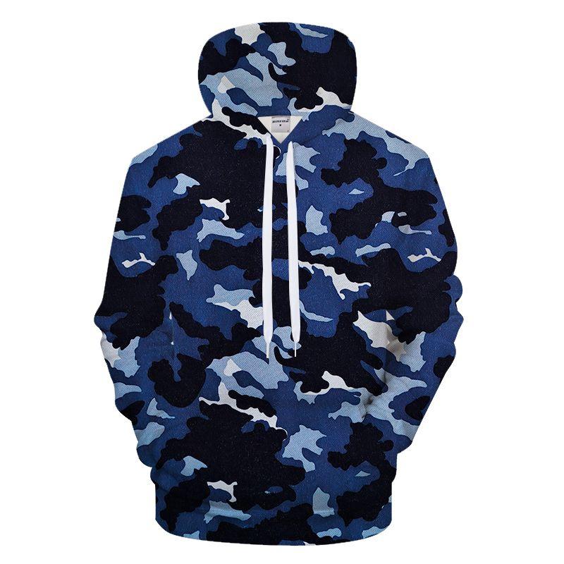 Navy Blue Camo 3DPrint Hoodies Men Women Sweatshirt Casual Tracksuit Jacket  Hoodie Coat Pullover Streatwear Drop Ship UK 2019 From Clothesb911 27845b1fd69