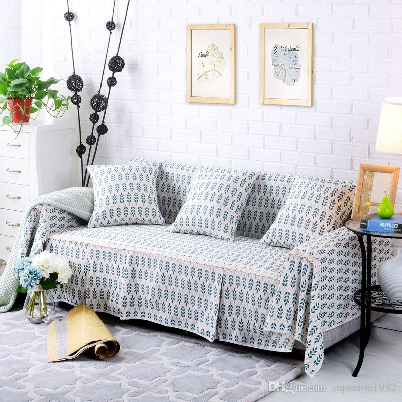Floral Cotton Linen Slipcover Sofa Cover OUKl Protector for 1 2 3 4 seater  ly