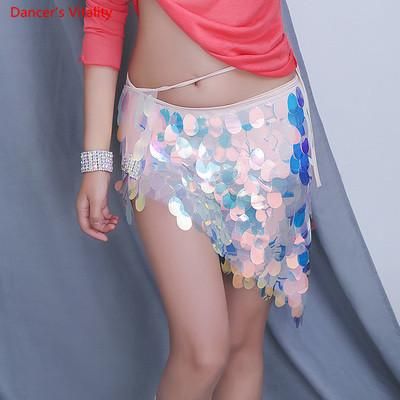 b64e571bb99 2019 Belly Dance Women Fish Skirts Scales Hip Scarf Belly Dance Oriental  Costume Sequin Skirt 2018 Costume From Vikey13