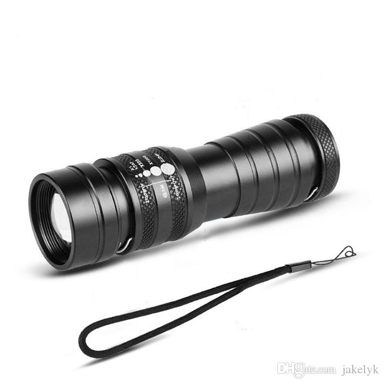 USB T6 High Power flashlight LED Torches Zoomable Tactical LED Hunting Flashlights torch light for 26650 battery with RETAIL BOX