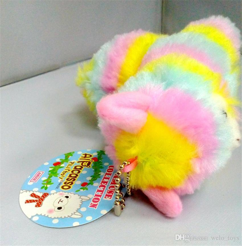 Радуга альпака плюшевые игрушки овец брелок японские чучела животных альпака мягкие плюшевые Alpacasso детские плюшевые подарки для детей 13см
