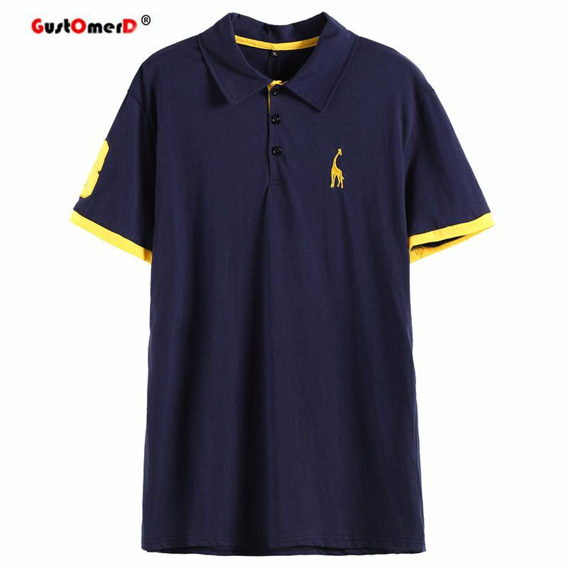 eaf6114448e1 2019 Designer Polo Gustomerd Summer 100 %Cotton Polo Shirt Men Short Sleeve  Casual Mens Shirts Camisa Polo Giraffe Soft Feel Quality Mens Polos From ...