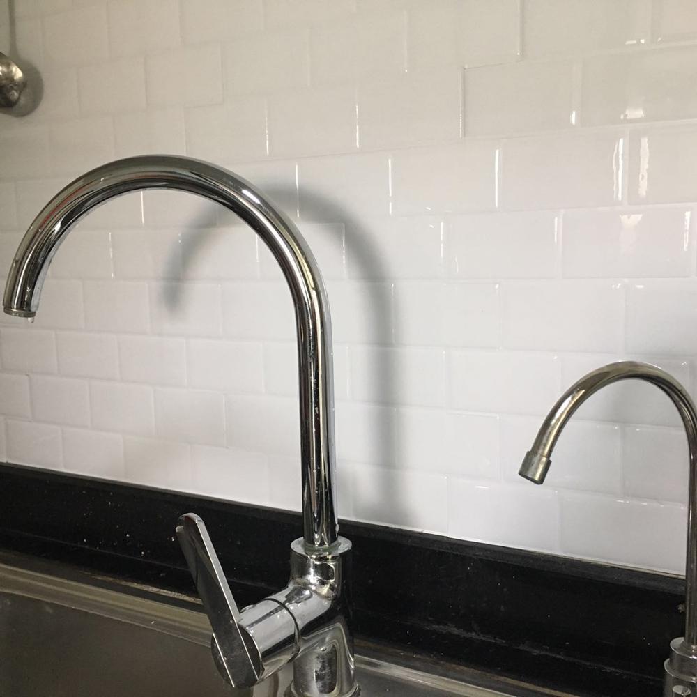 Kitchen Backsplash Tiles Peel And Stick White Brick Subway For