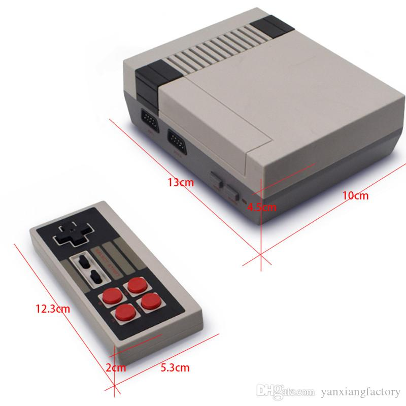 Wholesale MINI Vedio Game Console Family TV Out Game Players for Child And Adult Support NES Games With Box Via DHL YX-NES-01
