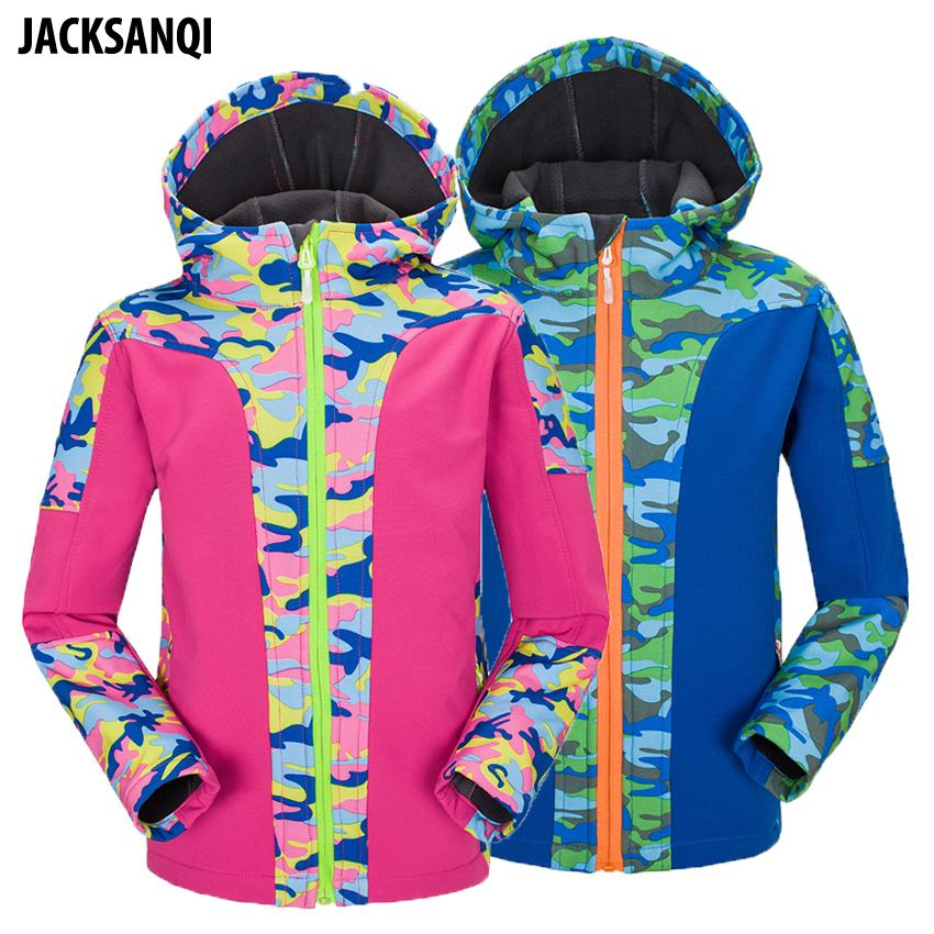 06eeaf30ab 2019 JACKSANQI Winter Children Fleece Softshell Jackets Kids Sport Coats  Outdoor Girl Boys Camping Hiking Trekking Windbreaker RA176 From Trubisky