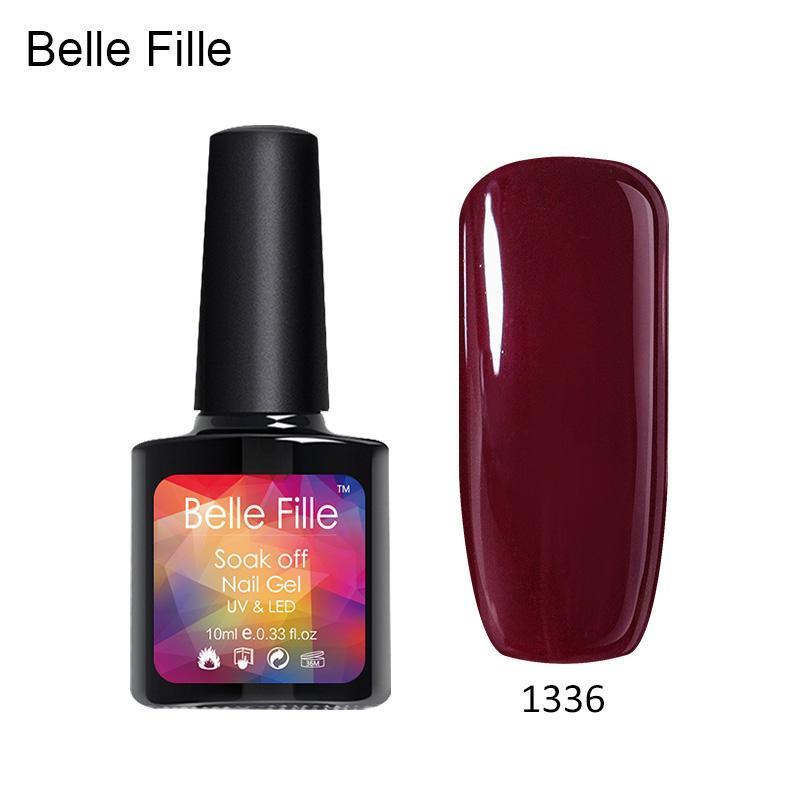 Belle Fille Gel Nail Polish Uv Gel Glitter Bling Varnish Soak Off ...