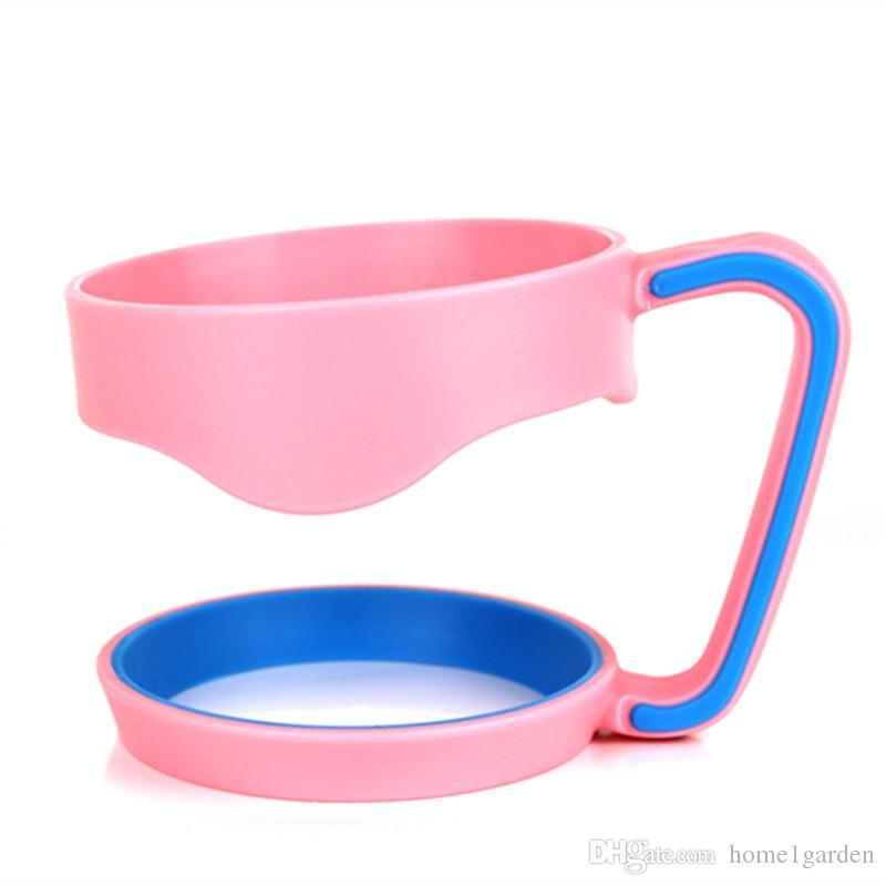 Portátil Plástico Preto Garrafa De Água Canecas Copo Pega para 30 OZ Tumbler Cup Mão Titular Fit Viagem Drinkware