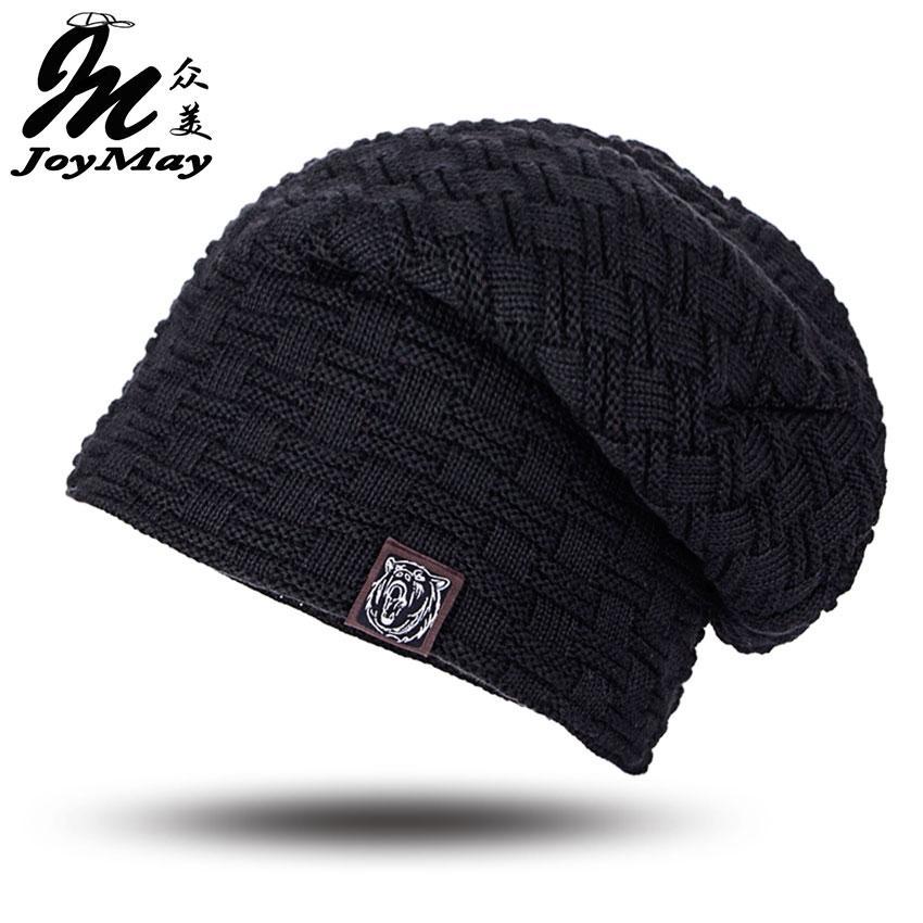 3d7b6440375d6 Beanies Knit Men's Winter Hat Caps Skullies Bonnet Winter Hats For Men  Women Beanie Fur Warm Baggy Wool Knitted Hat WM052