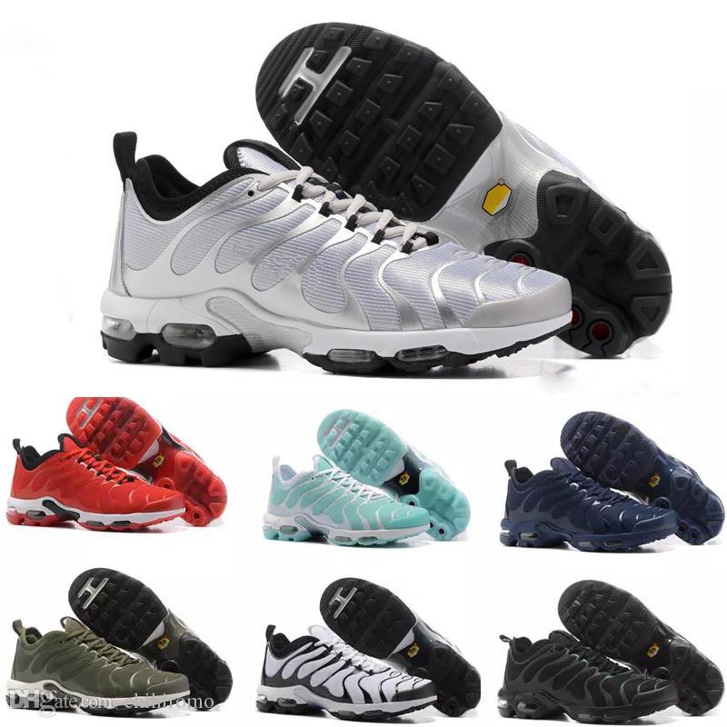 sports shoes 1d8f4 5662e Nike Air Max TN Plus vapormax airmax 2018 Top Hommes Chaussures Vert TN  Ultra Sports Requin Sneakers air Caushion Running Chaussures de sport 36-46