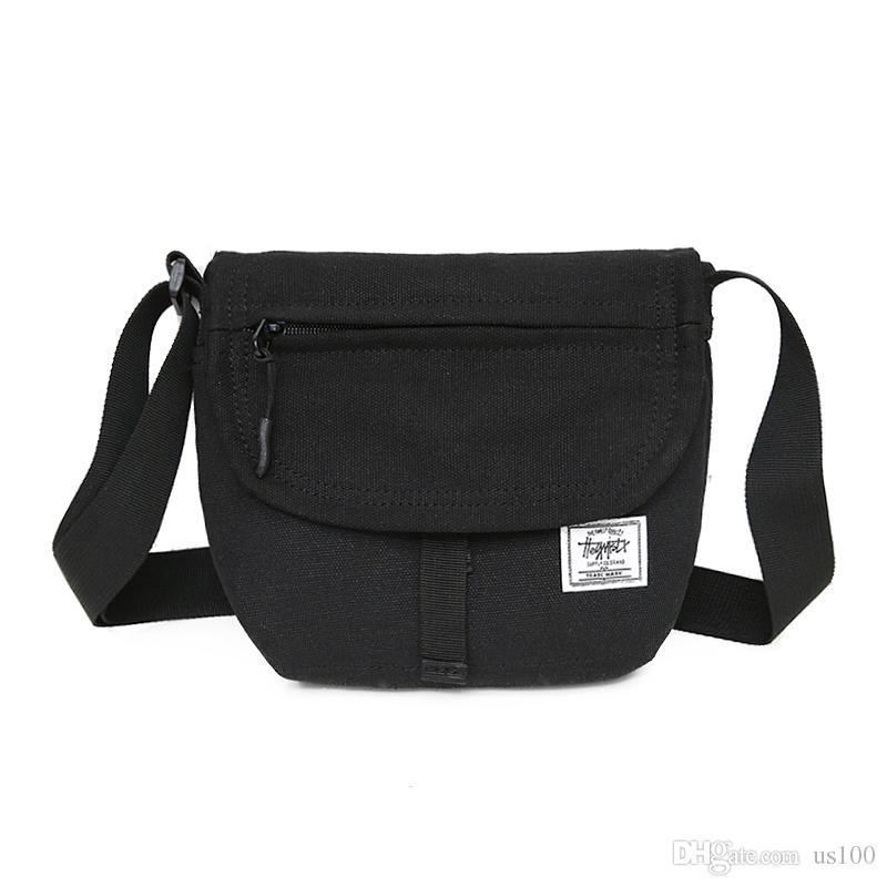 07bf188b46 Canvas Shoulder Bag Men And Women Couple Small Backpack Hip Hop Bag Tide  Street Messenger Bag Europe And America Diagonal Cross Messenger Ba Handbag  Brands ...