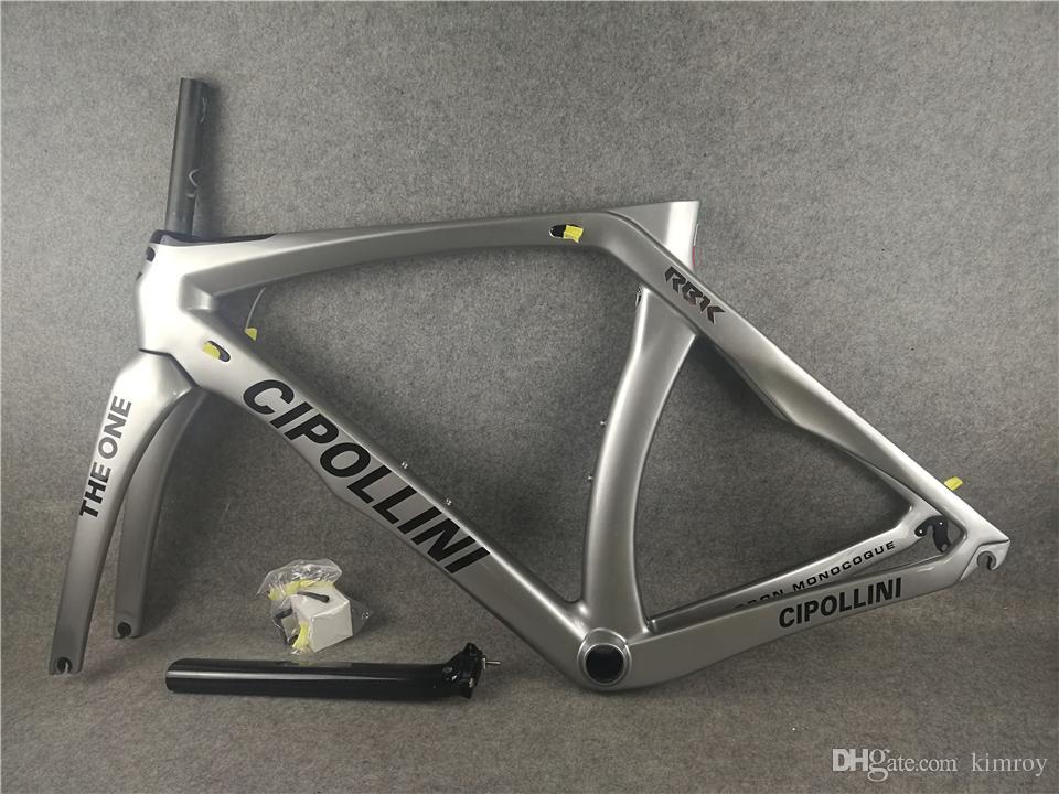 Sliver Cipollini RB1K THE ONE Noir logo cadre de vélo de route brillant Carbon Vélo de route frameset BB86