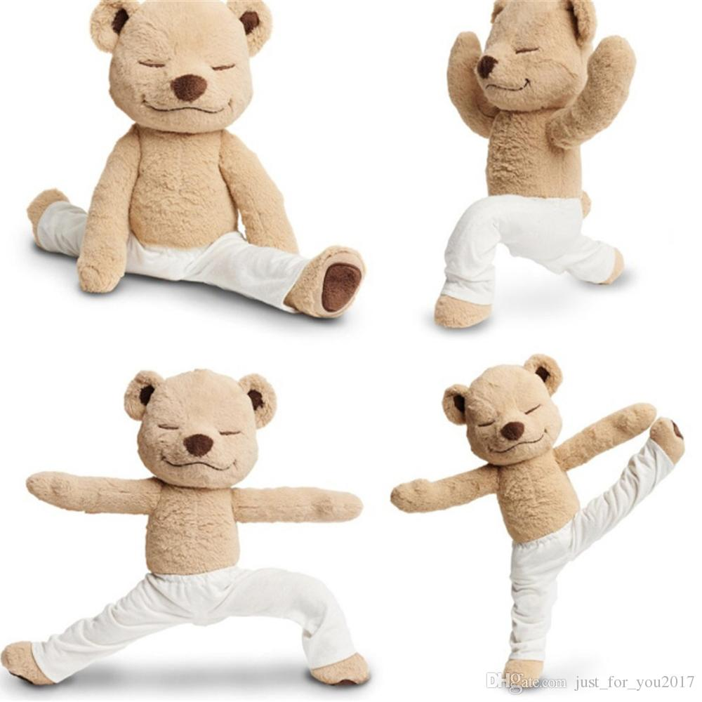 fc49a225c5 2019 Yoga Bear Plush Toy Creative Cute American Meddy Teddy Stuffed Doll  Soft Baby Toys Birthday Gift From Just_for_you2017, $33.42 | DHgate.Com