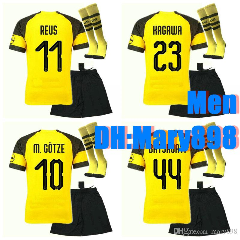 c83695e5038 Best Quality 18 19 PULISIC Home Soccer Jerseys Kits 2018 2019 BARTRA ...